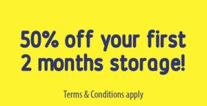 50% off your first 2 months storage