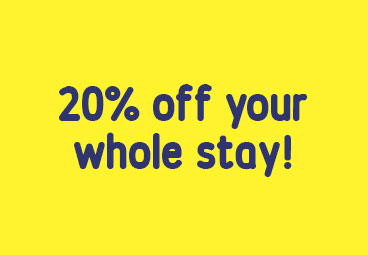 20% discount if staying for 6 months or longer