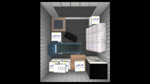 50 square foot storage space