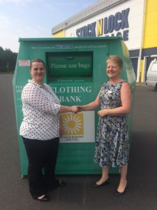 clothing bank placed on stock n locks site
