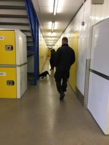 Police check on storage items