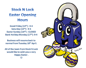 stock n lock easter opening hours